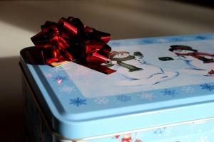 tin box, gift, metal box