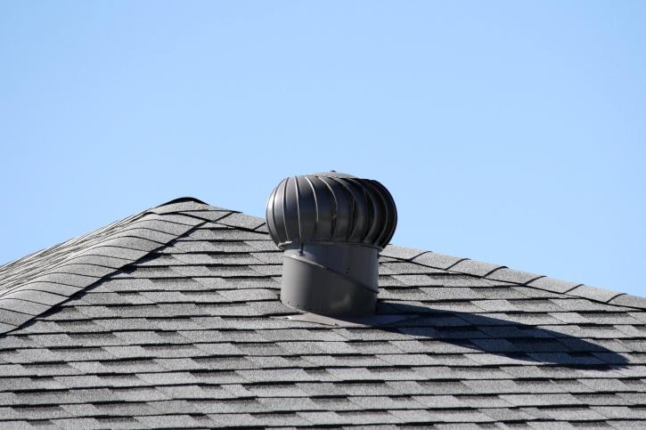 spinning turbine, attic, roof vent