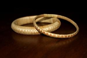 bracciali di paglia, gioielli