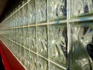 wall, glass, brick window