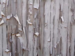 peeling, paint, fence, boards, texture