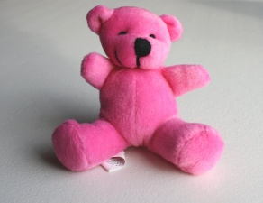 pink teddy bear, toy