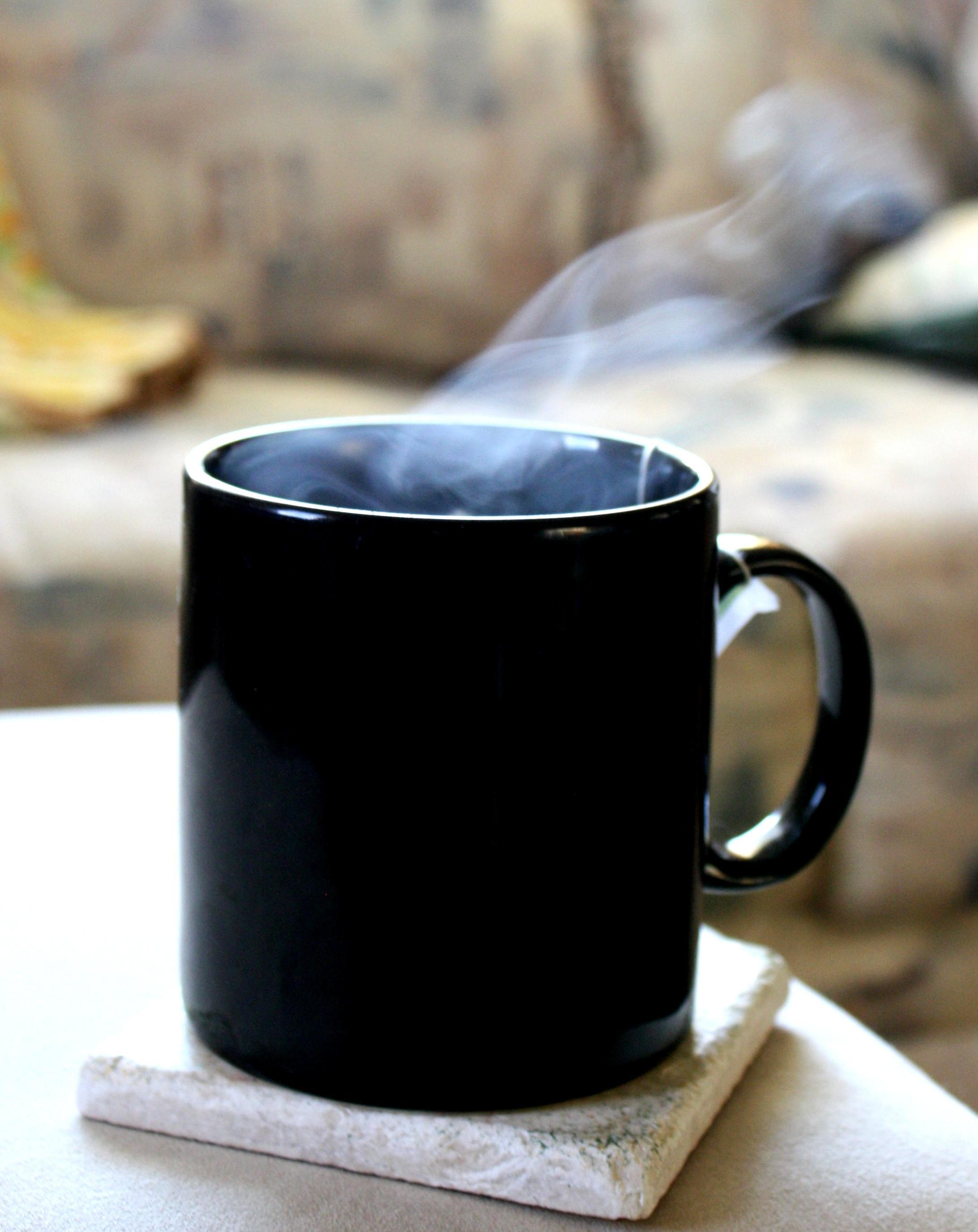 Free Picture Hot Tea Steam Rising Cup Tea Mug