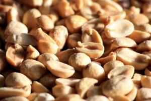 paahdetut maapähkinät, siemenet