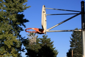 basketball hoop, basketball court, construction
