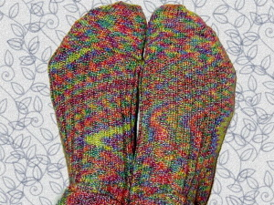 human feet, colorful socks, knit