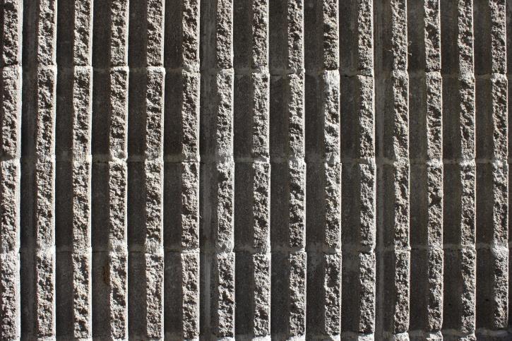 bloc de béton, mur, texture, arêtes verticales