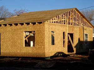 bulding house, under construction