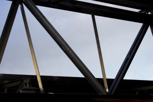 metal bars, steel, support beam, girder