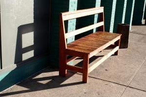 wooden bench, sunlight, furniture