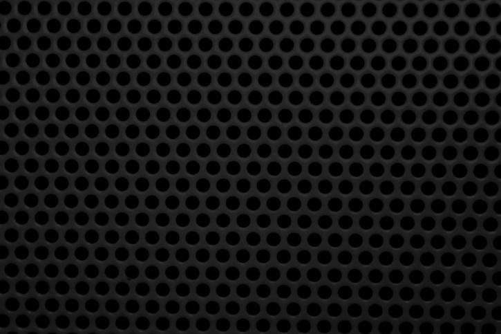 sort, metal trådnet, runde huller, tekstur