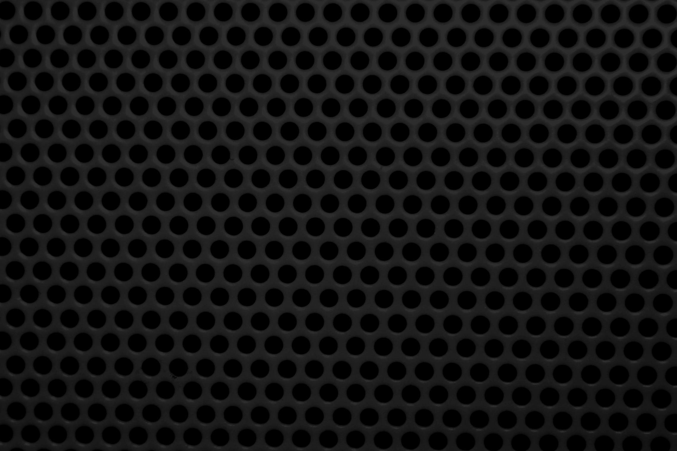 Free Picture Black Metal Mesh Round Holes Texture
