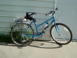 blau Fahrrad