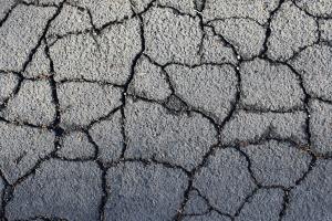 cracked asphalt, texture, road