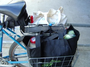 groceries, bicycle, bicycle basket