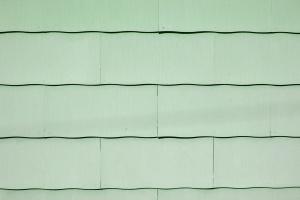 lys grønn maling, kamskjell, asbest, grus, tak, tekstur