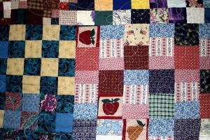 Patchwork, Quilt, bunt, textil, Textur