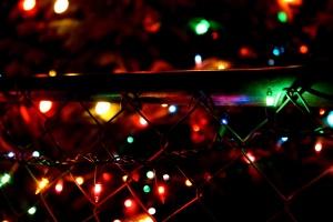 décoration de Noël, oranments, lumières, nuit