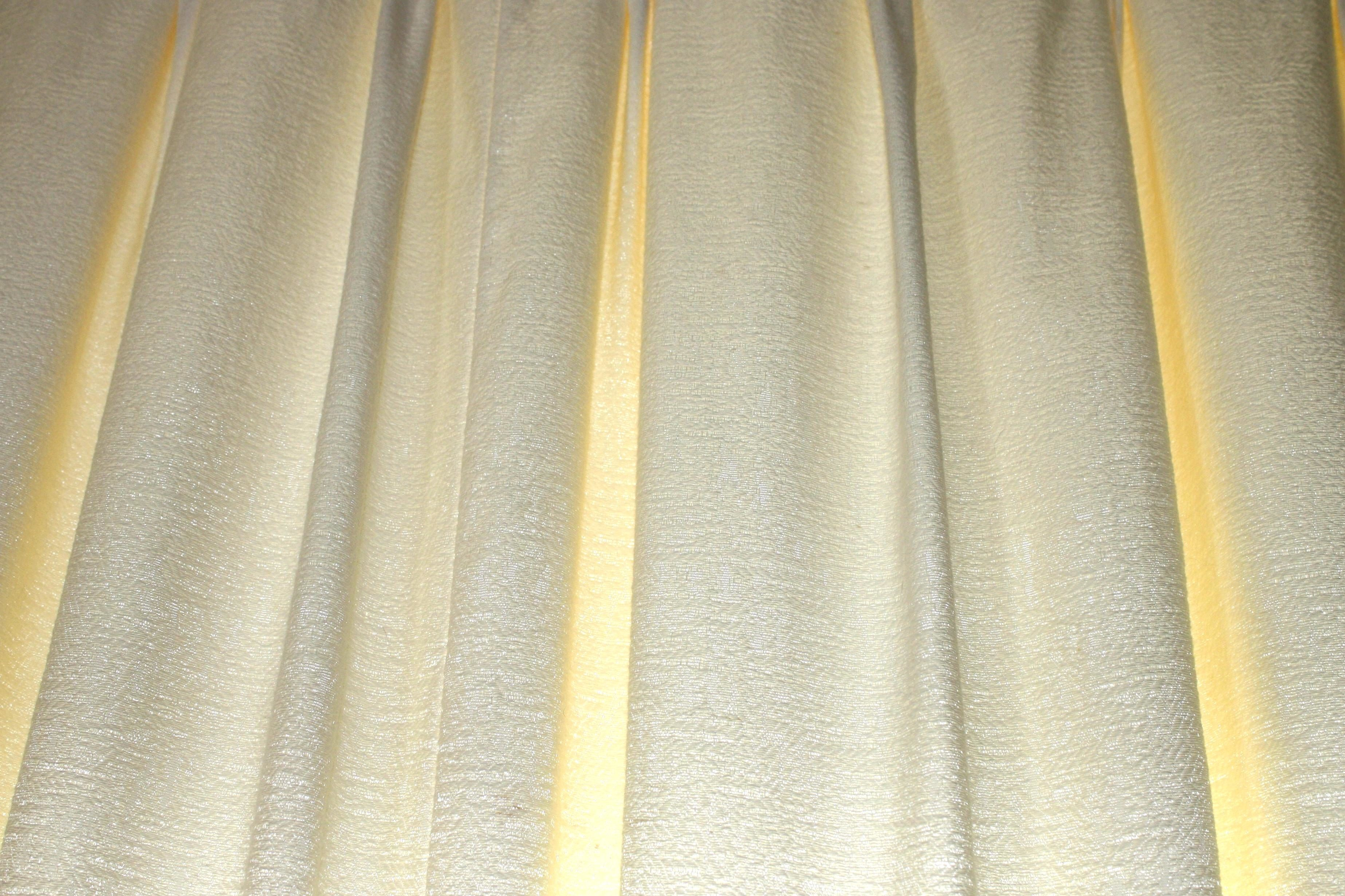 Free Picture: Cream Color, Curtains, Texture, Textil