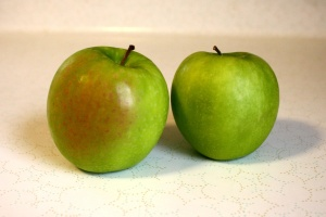 fresh fruit, granny smith apples, green apples
