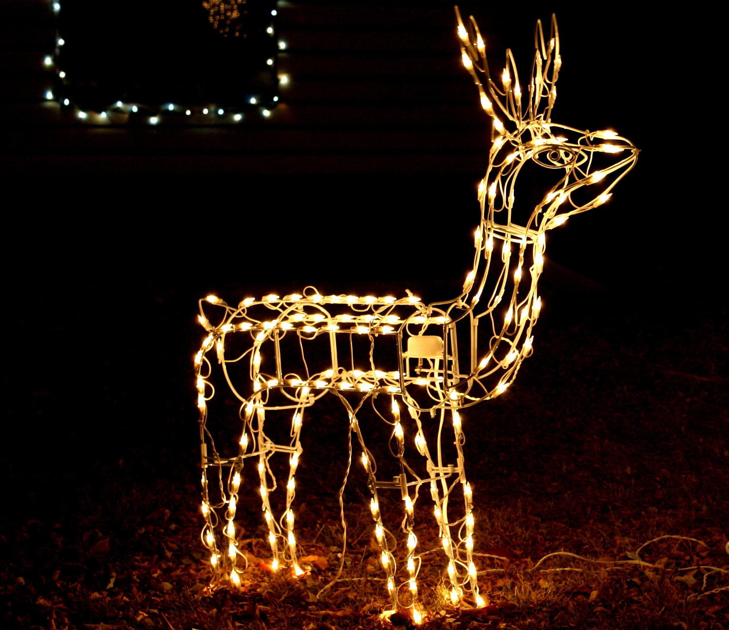 Luces decoracion luces led clips pinzas decoracin - Renos de navidad con luces ...
