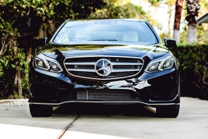 black, mercedes benz, sedan, car, coupe