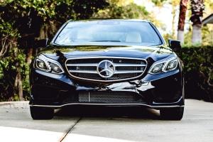 black, mercedes benz, sedan, car, coupe