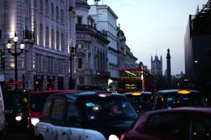auto, strada, traffico, marmellata, londra, strada, in taxi