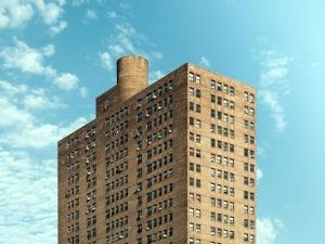 brown, concrete, building, sky, windows