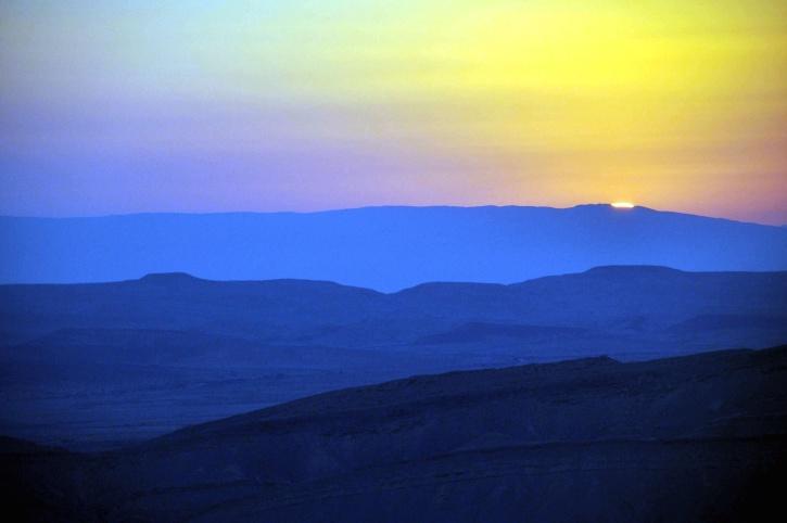coucher du soleil, montagnes, nature, ciel