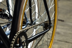 bicycle, sprocket, chain, spokes, tire, wheel