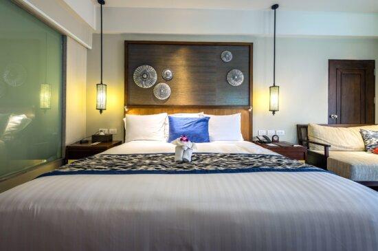 interior design, lamps, luxury, mattress, pillows, room