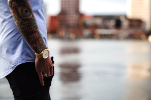 tattoo, arm, travel, urban, wristwatch, lifestyle