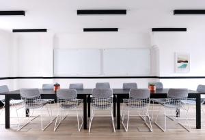 arquitectura, negocios, sillas, conferencia, habitación, contemporánea