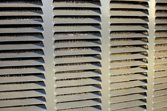 air conditioner, metal grill