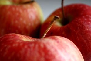 red apples, fruit, macro photography