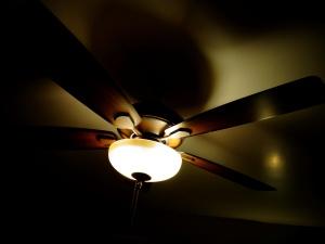 plafon ventilator, lumina, întunericul, interior, lampa