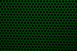 dark green color, metal mesh, round holes, texture