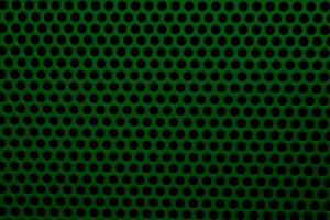 dark green color, metal mesh, round holes, texture