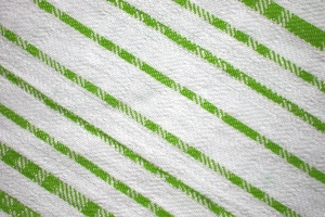lavette, couleur vert lime, rayures diagonales, lignes, tissu