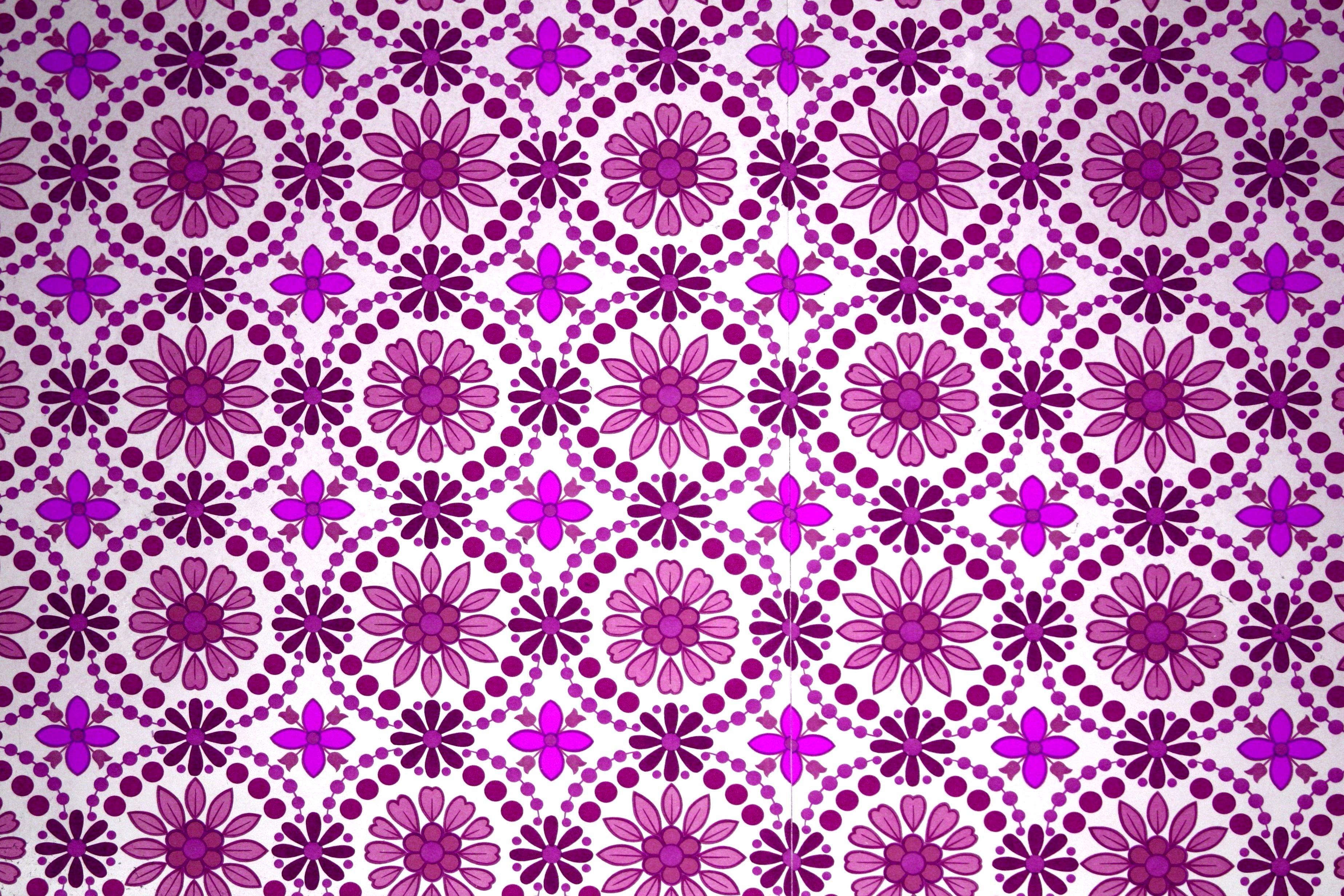 free picture magenta color floral design textil texture