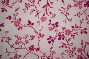roze, wit, floral print stof, bloemdessin, textuur