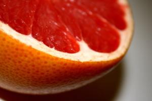 red grapefruit, slice, fresh fruit