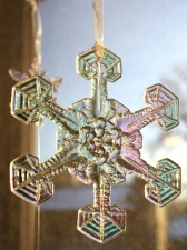 snowflake, ornament, decoration, plastic