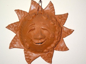 terracotta, Sun, ornament, decoration, sculpture