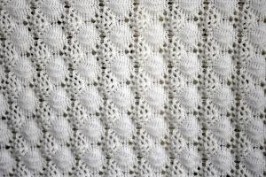 crochê branco, malha, textura