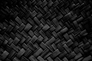 negro, tejido, paja, textura