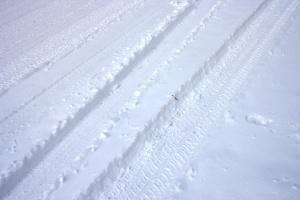 snijega, cesta, zima
