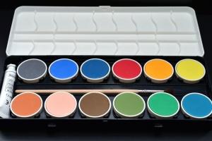 watercolour, painting, color palette, paper