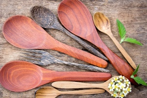 spatula, wooden spoon, traditional